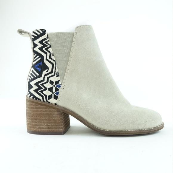 dd88a222e TOMS Shoes | Women Birch Suede Jacquard Esme Booties R9s12 | Poshmark